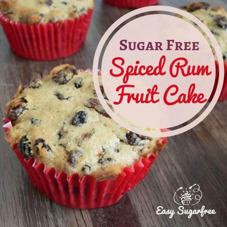 Sugar free spiced rum fruitcake