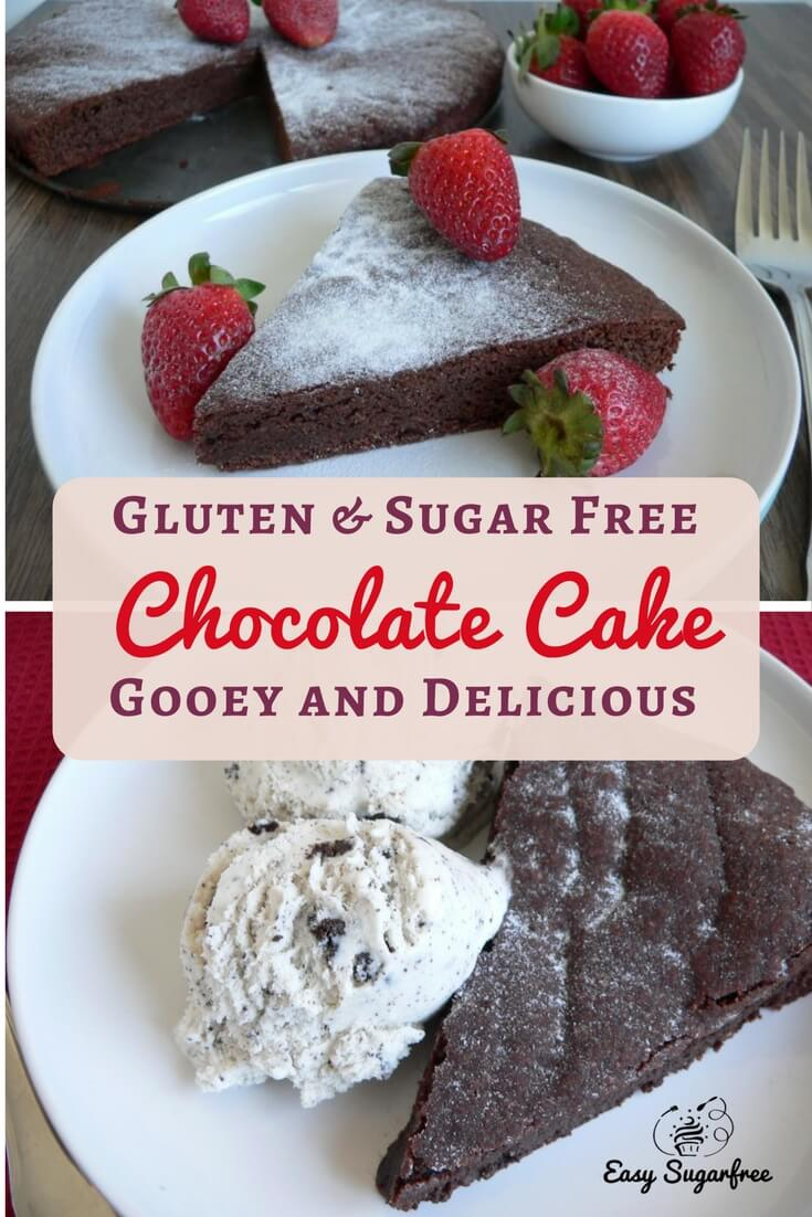 Gluten Free Chocolate Cake is gooey and delicious