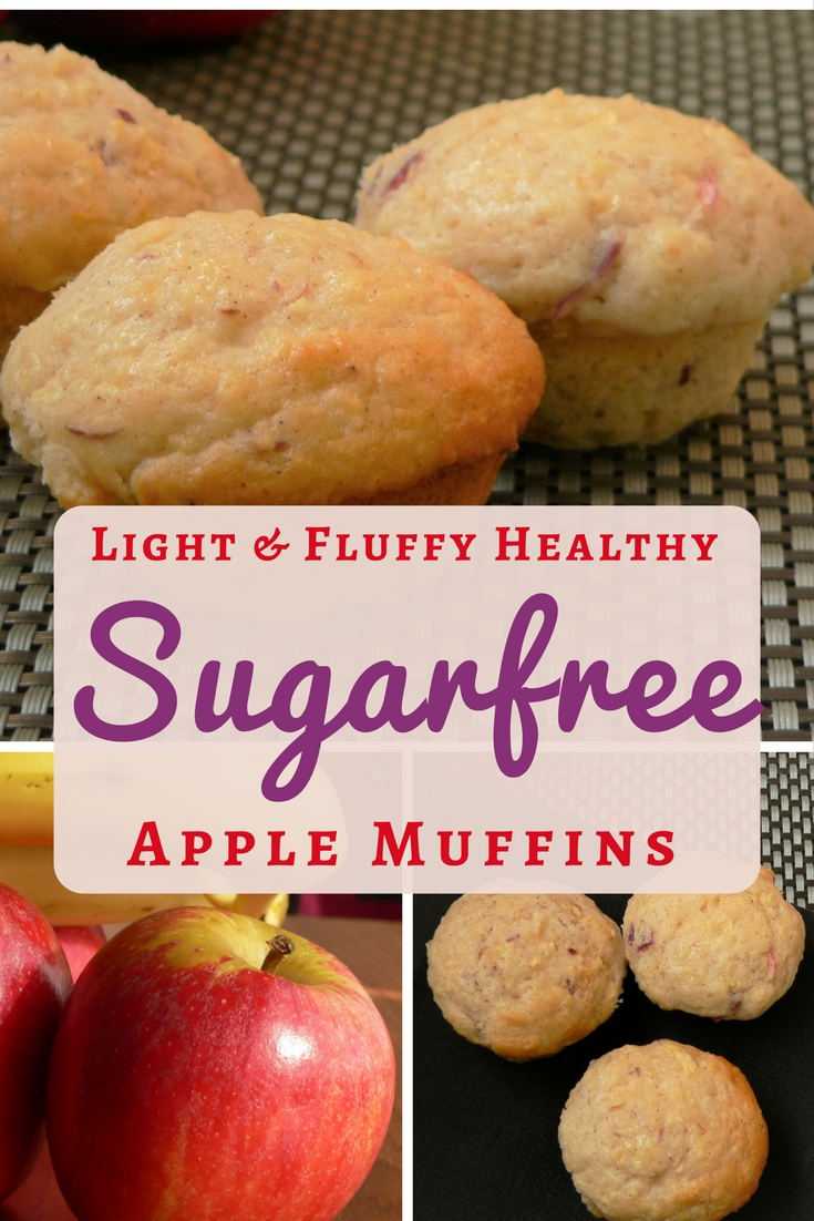 Sugar free muffin recipes for fruit muffins - apple, blueberry, raspberry
