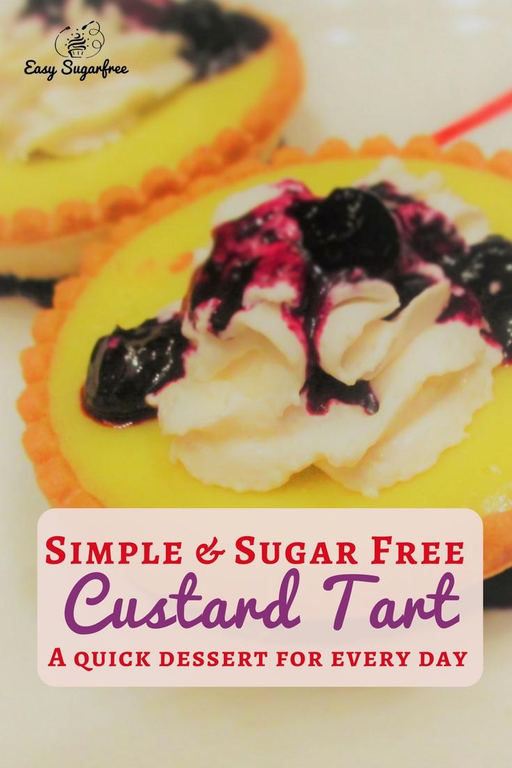 sugar free custard tart