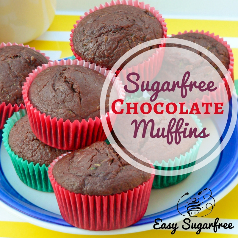 Sugar free chocolate muffins, with variations