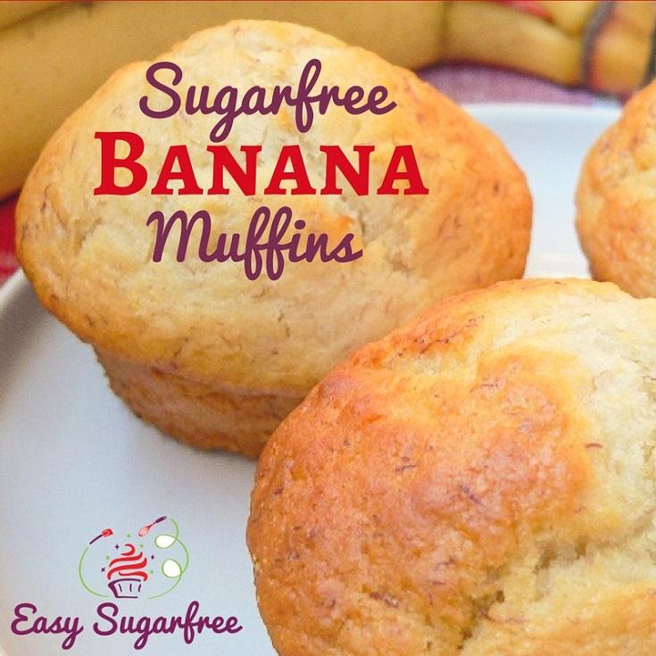 Banana muffins made without sugar