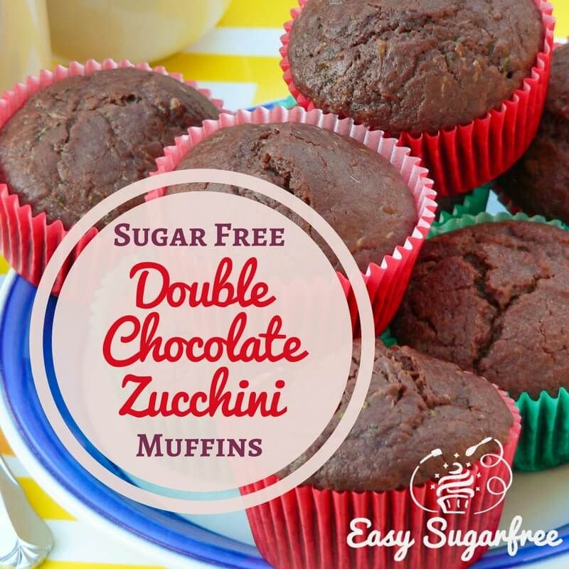 Sugar free muffins - chocolate zucchini muffins and chocolate beetroot muffins. A delicious way to hide vegetables in cake!