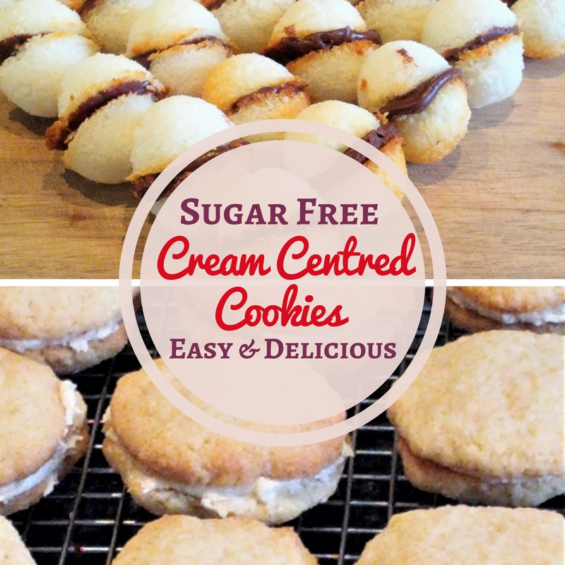 Sugar free cream-filled cookies to bake at home with no sugar. A wonderful guilt-free treat for the whole family.