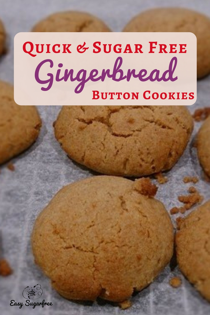 Gingerbread buttons on baking tray