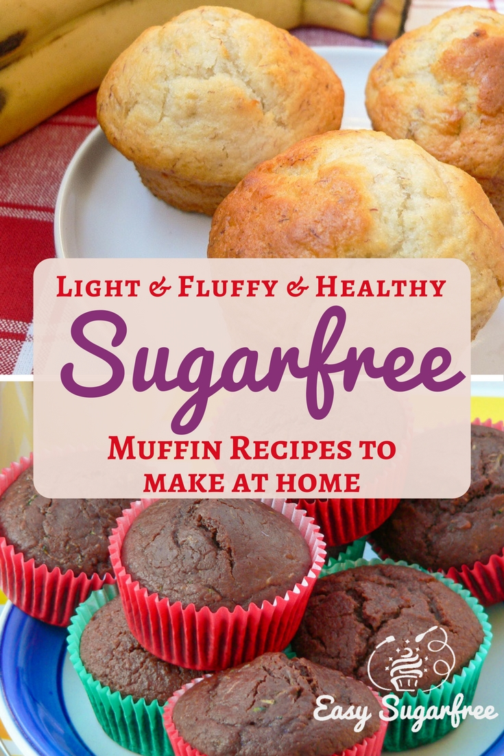 Sugar Free Muffins on a plate